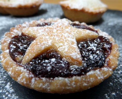The ultimate mince pie with star top